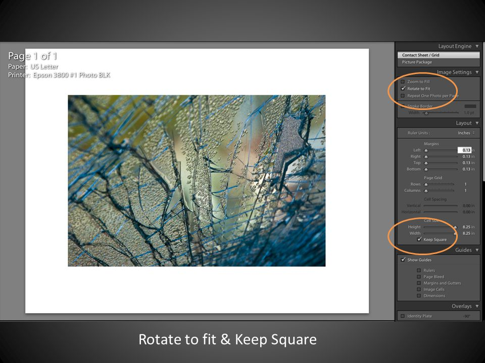 Rotate to fit & Keep Square