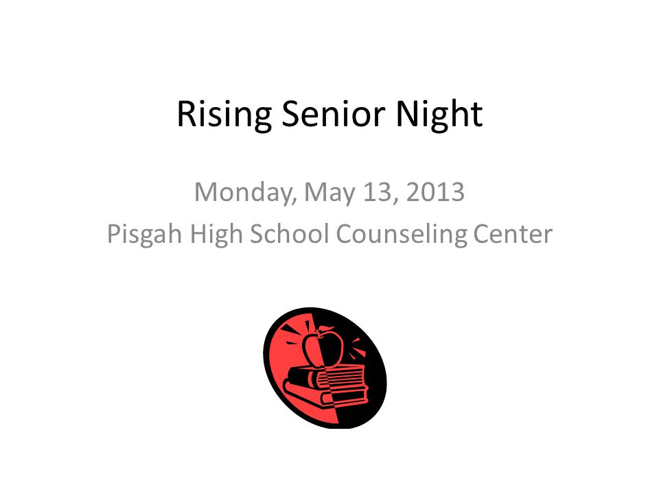 Rising Senior Night Monday, May 13, 2013 Pisgah High School Counseling Center