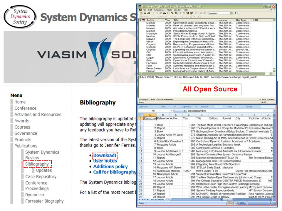 System Dynamics Society All Open Source