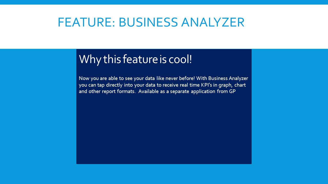 FEATURE: BUSINESS ANALYZER