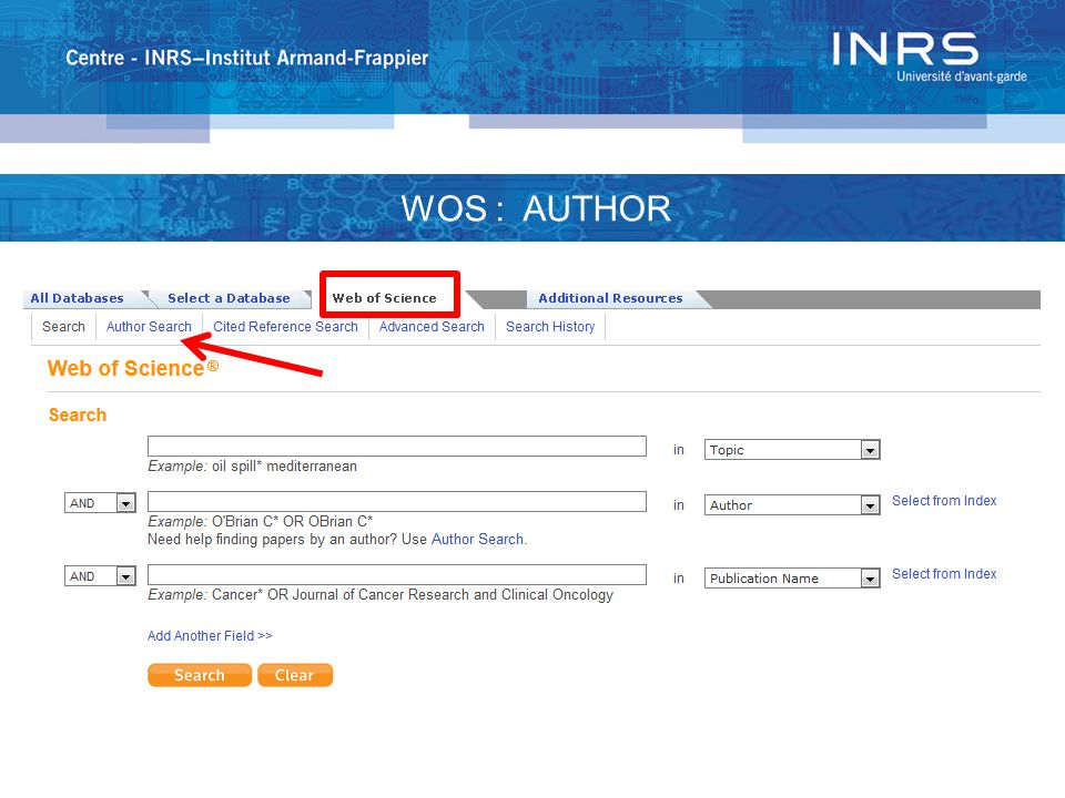 WOK : JOURNAL OF CITATION REPORTS (JCR)  Is an automated and objective assessment tool of the main international research journals  Provides a unique perspective for the evaluation and comparison of journals by collecting and classifying citations and articles from all fields specialized science, social science and technology Translation of : http://ip-science.thomsonreuters.com/m/pdfs/mgr/jcr_qrc_fr.pdf