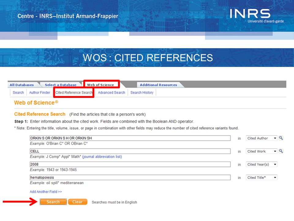 WOS : CITED REFERENCES