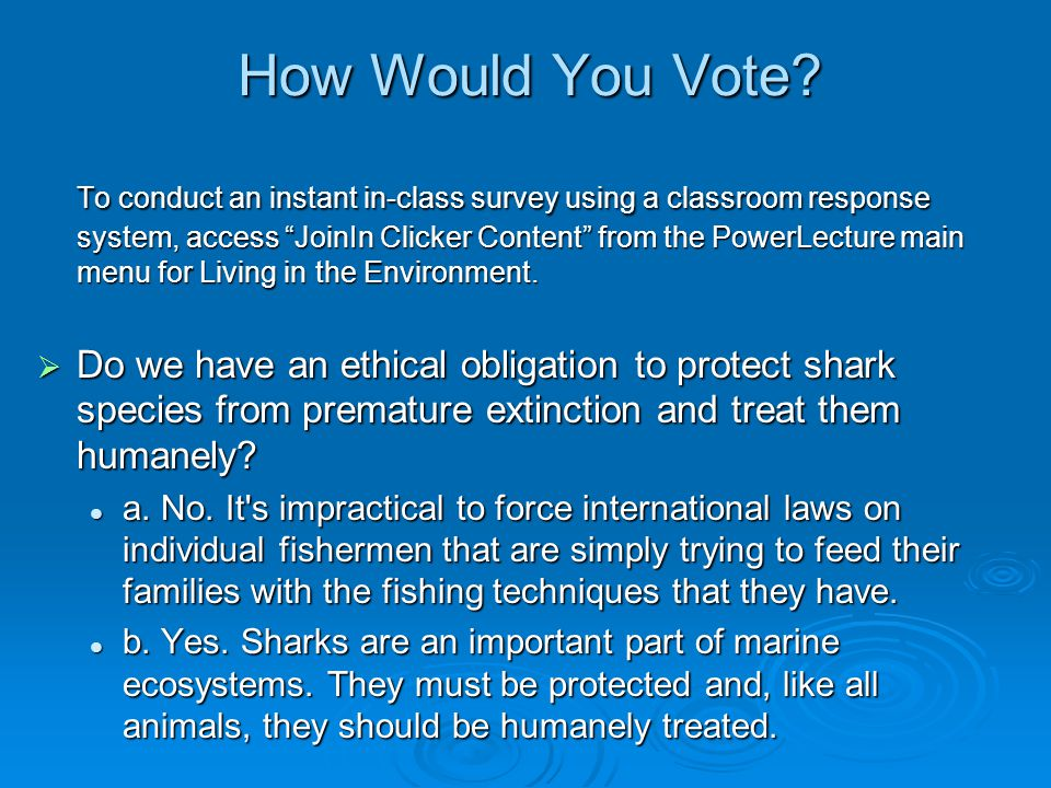 "How Would You Vote? To conduct an instant in-class survey using a classroom response system, access ""JoinIn Clicker Content"" from the PowerLecture mai"