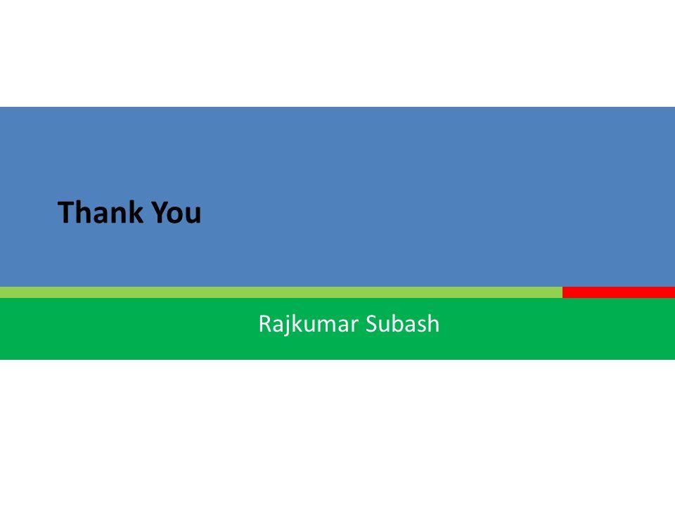 Rajkumar Subash Thank You