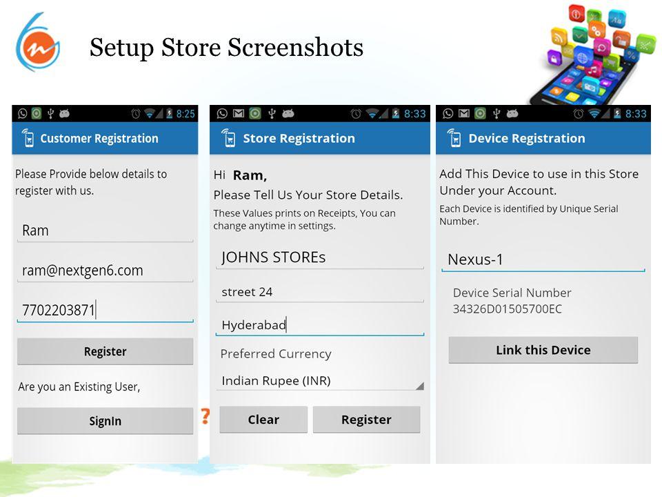 Setup Store Screenshots..Continued