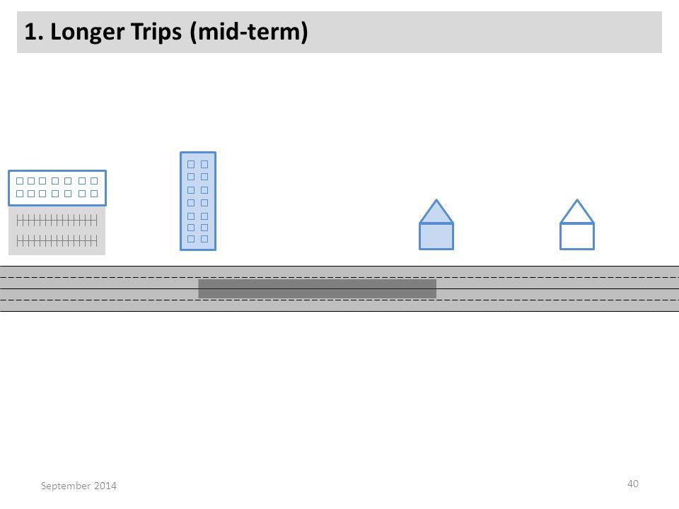 1. Longer Trips (mid-term) 40 September 2014