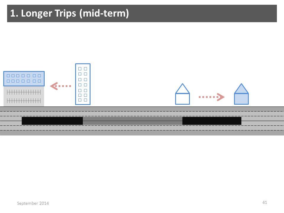 1. Longer Trips (mid-term) 41 September 2014