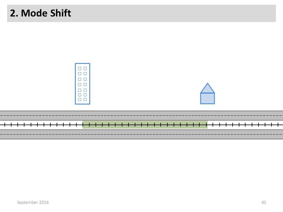 2. Mode Shift 42September 2014