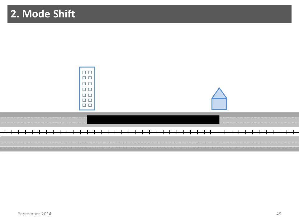 2. Mode Shift 43September 2014