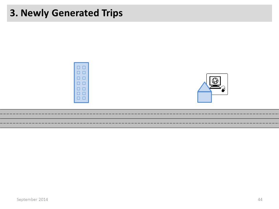 3. Newly Generated Trips 44September 2014