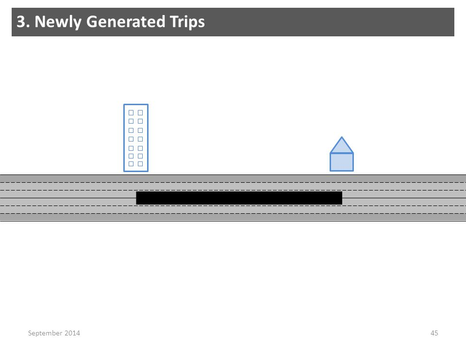 3. Newly Generated Trips 45September 2014