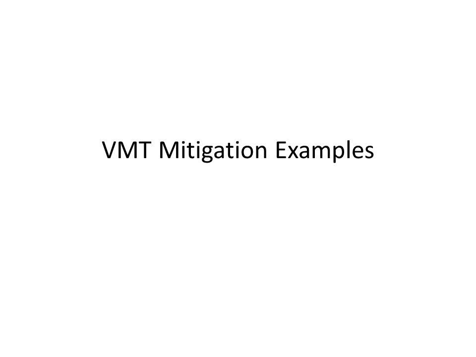 VMT Mitigation Examples