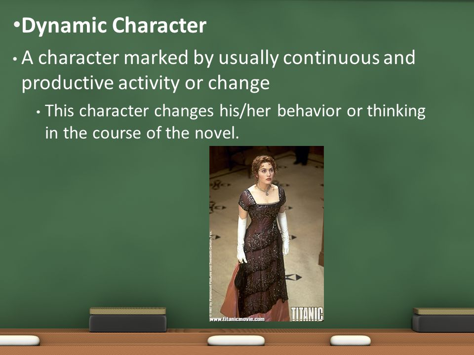 A character marked by usually continuous and productive activity or change This character changes his/her behavior or thinking in the course of the no