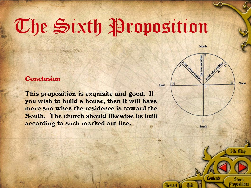 The Sixth Proposition Conclusion This proposition is exquisite and good.
