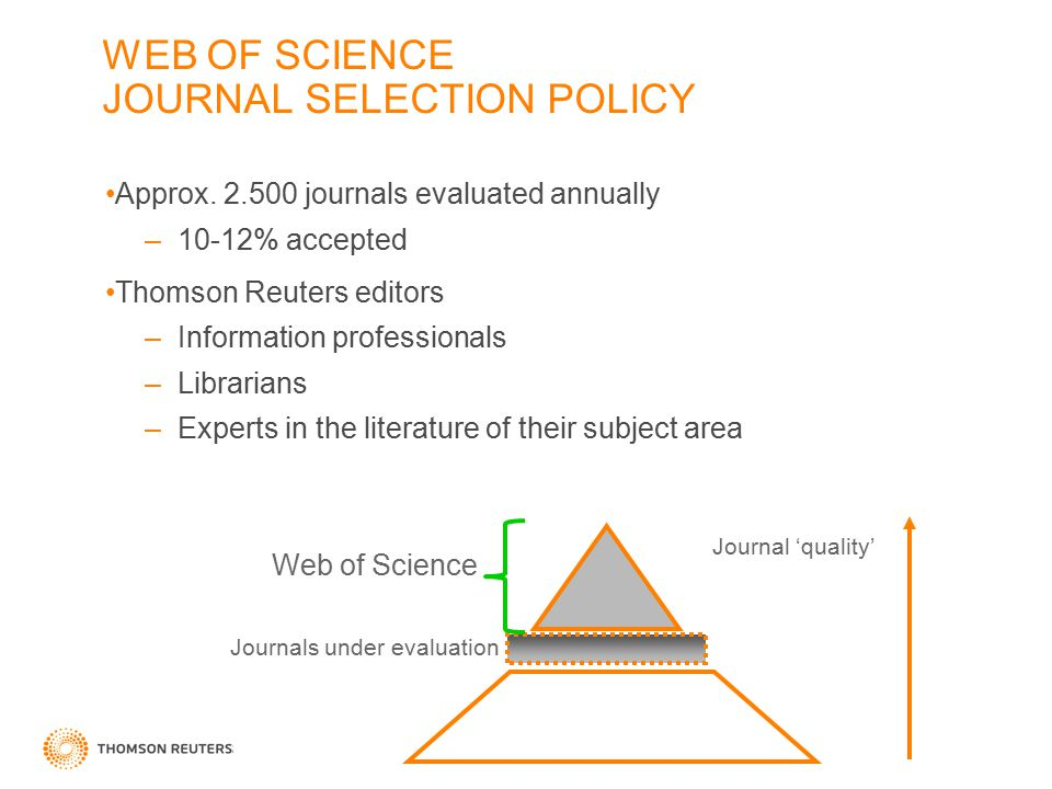 WEB OF SCIENCE JOURNAL SELECTION POLICY Approx.