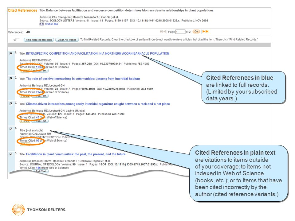 Cited References in blue are linked to full records.