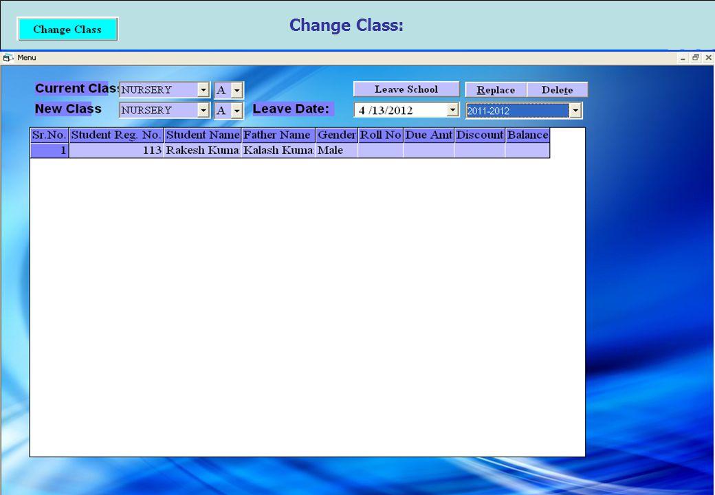 Change Class: