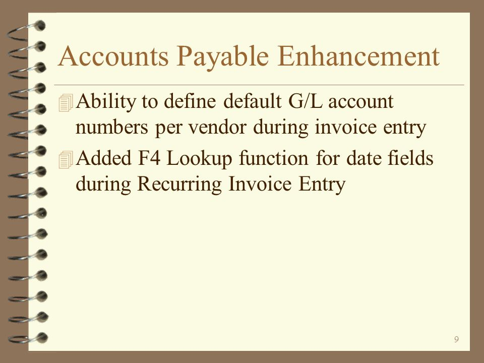 69 Default G/L Accounts The default G/L account may be keyed or selected from a list by using F4 If the G/L account to be used as the default is known, it may keyed, or the user may use the F4 List function and select it from a list of G/L accounts