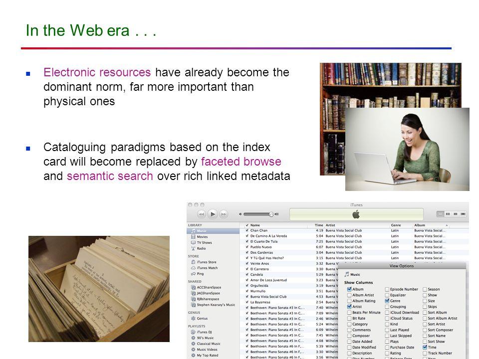 In the Web era...