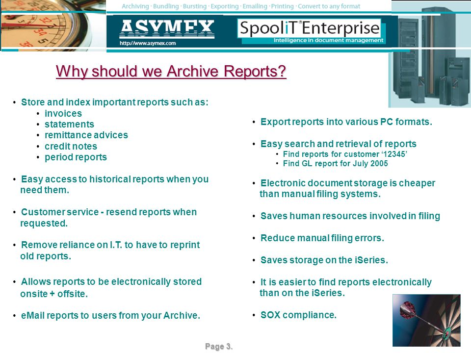 How do we Archive reports.1. 2. 3. It is an easy 3 step process in SpooliT.