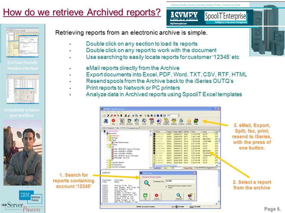 How do we retrieve Archived reports. 1.