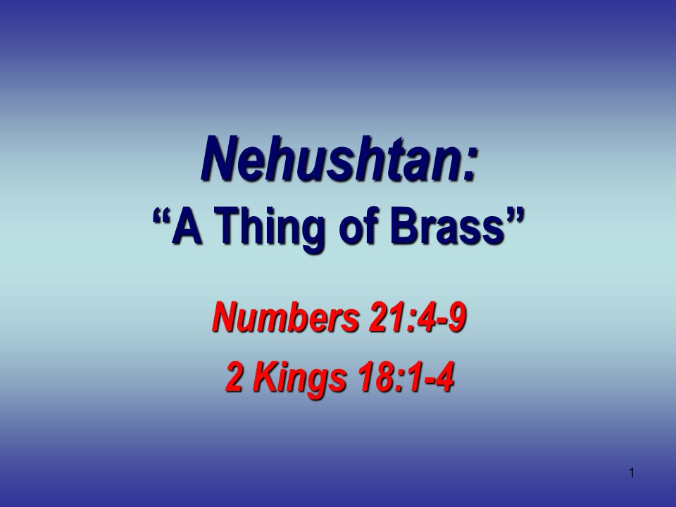 2 The Bronze Serpent Numbers 21:4-9 Sin of complaining Sin of complaining Many killed by fiery snakes Many killed by fiery snakes God had mercy on Israel God had mercy on Israel Bronze serpent on a pole Bronze serpent on a pole Faith to look and be healed Faith to look and be healed