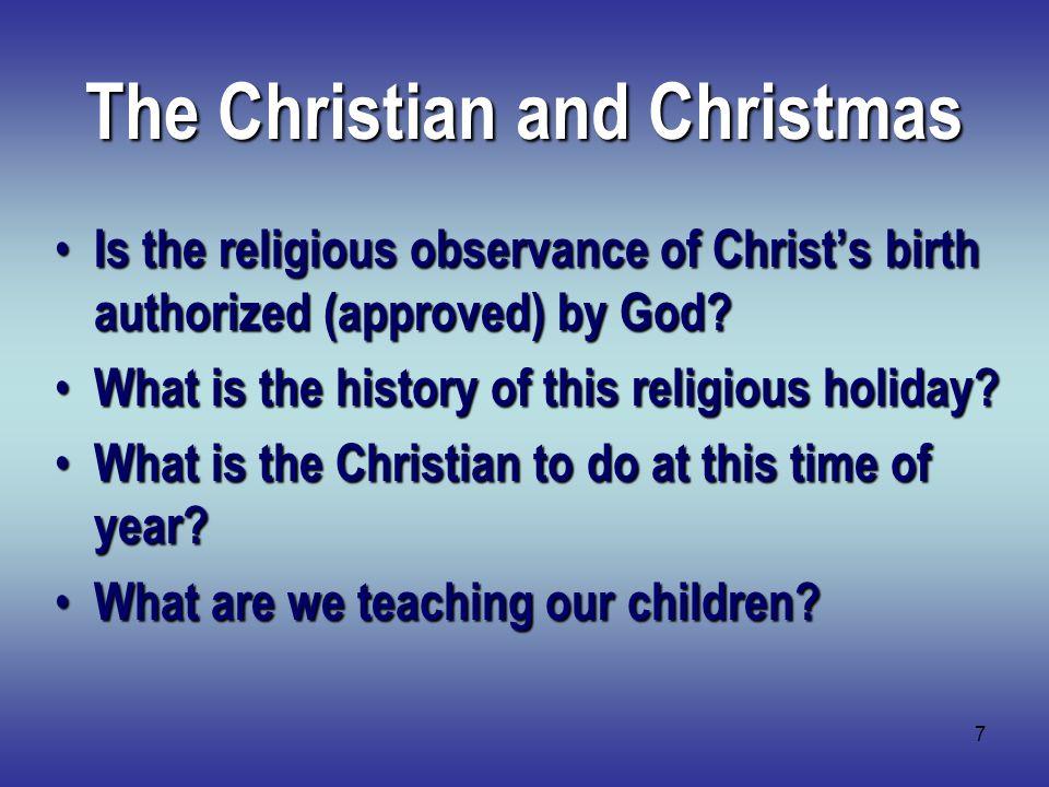 8 Christmas: God or Man.