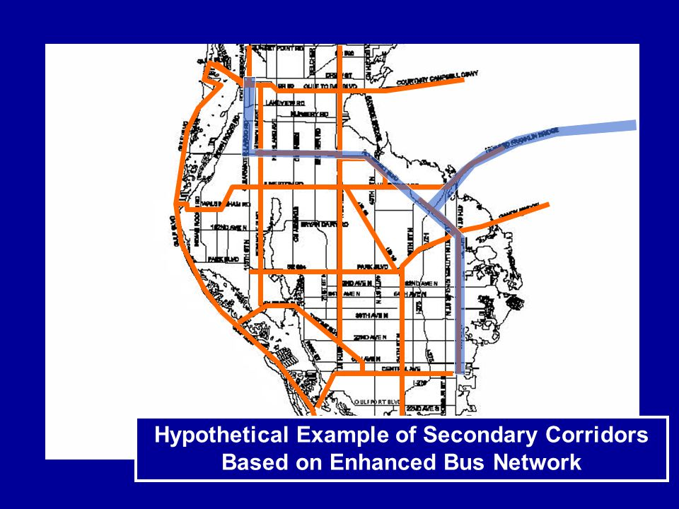 Hypothetical Example of Secondary Corridors Based on Enhanced Bus Network