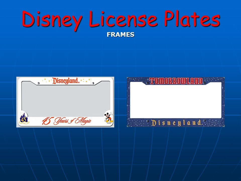 Disney License Plates FRAMES