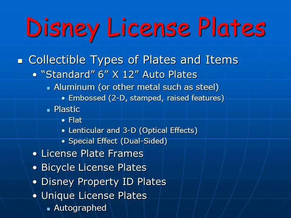 Disney License Plates ALUMINUM