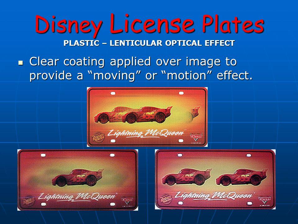 Disney License Plates Reprint Color Changes Variations Original Release 2000 2002 Release