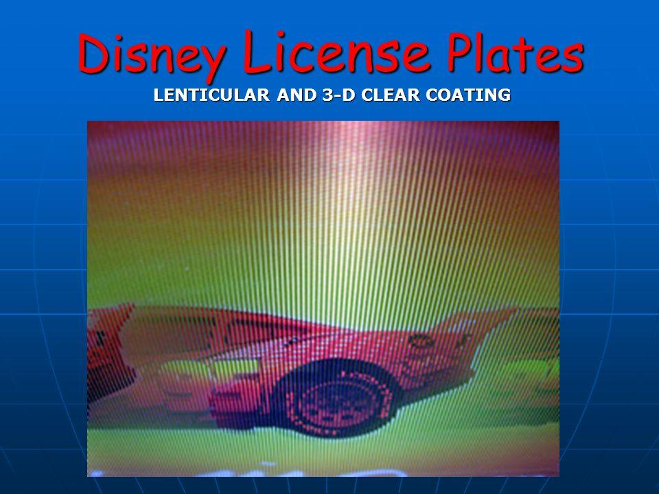 Disney License Plates Material Variations Original Aluminum ReleasesPlastic Releases