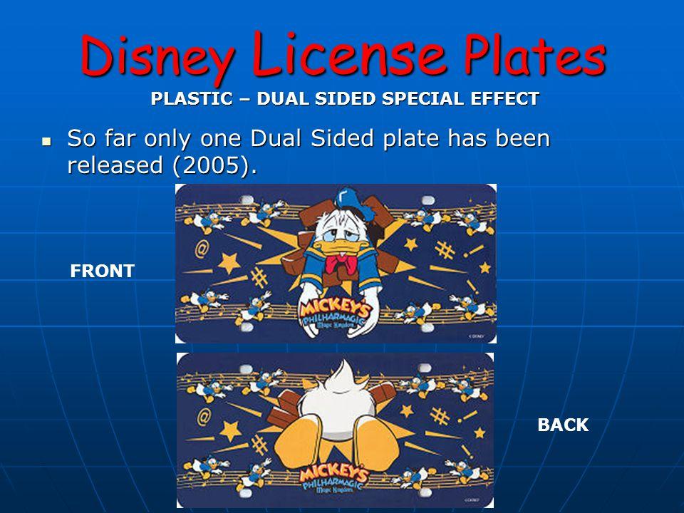 Disney License Plates FRAMES