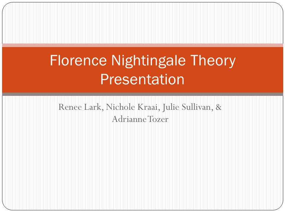 Renee Lark, Nichole Kraai, Julie Sullivan, & Adrianne Tozer Florence Nightingale Theory Presentation