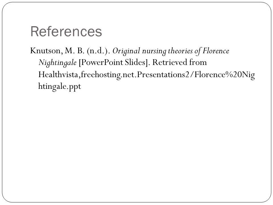 References Knutson, M. B. (n.d.).