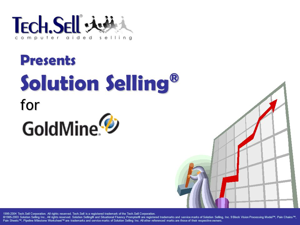 Presents Solution Selling ® for 1995-2004 Tech.Sell Corporation. All rights reserved. Tech.Sell is a registered trademark of the Tech.Sell Corporation
