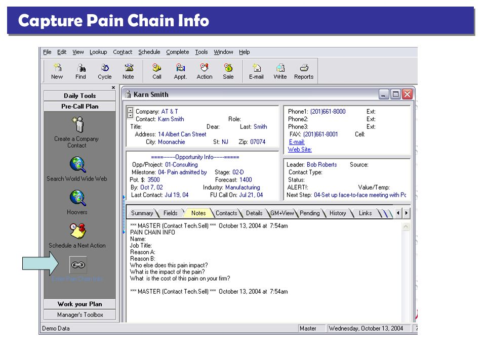 Capture Pain Chain Info