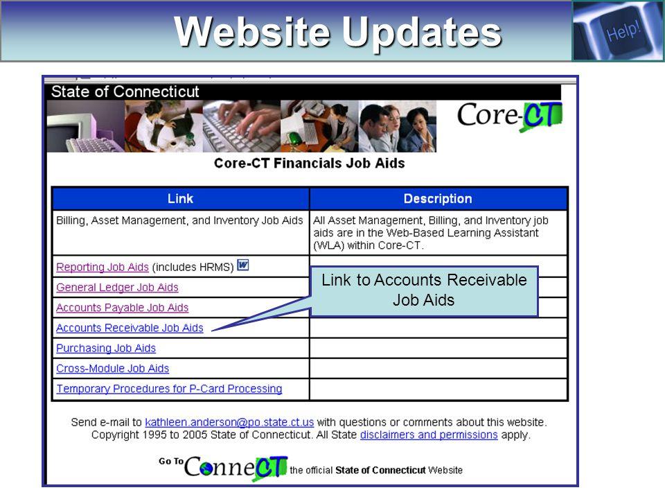 Website Updates Link to Accounts Receivable Job Aids