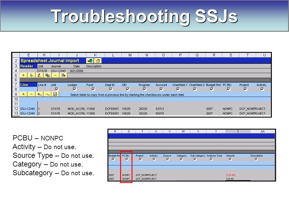 PCBU – NONPC Activity – Do not use. Source Type – Do not use.