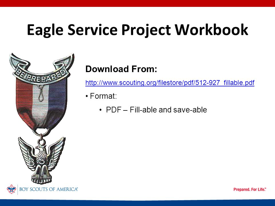 Eagle Service Project Workbook The Project Report – Entering Time Spent CONTINUED NEXT SLIDE