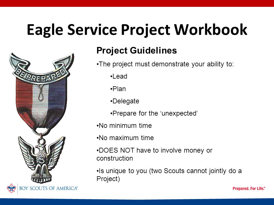 Eagle Service Project Workbook The Final Plan - Supplies ItemQuantityUnit CostTotal CostSource Sandwich Bags6 boxes$1.99$11.94 Purchased Colored Dot Stickers5 pks.$2.00$10.00 Purchased