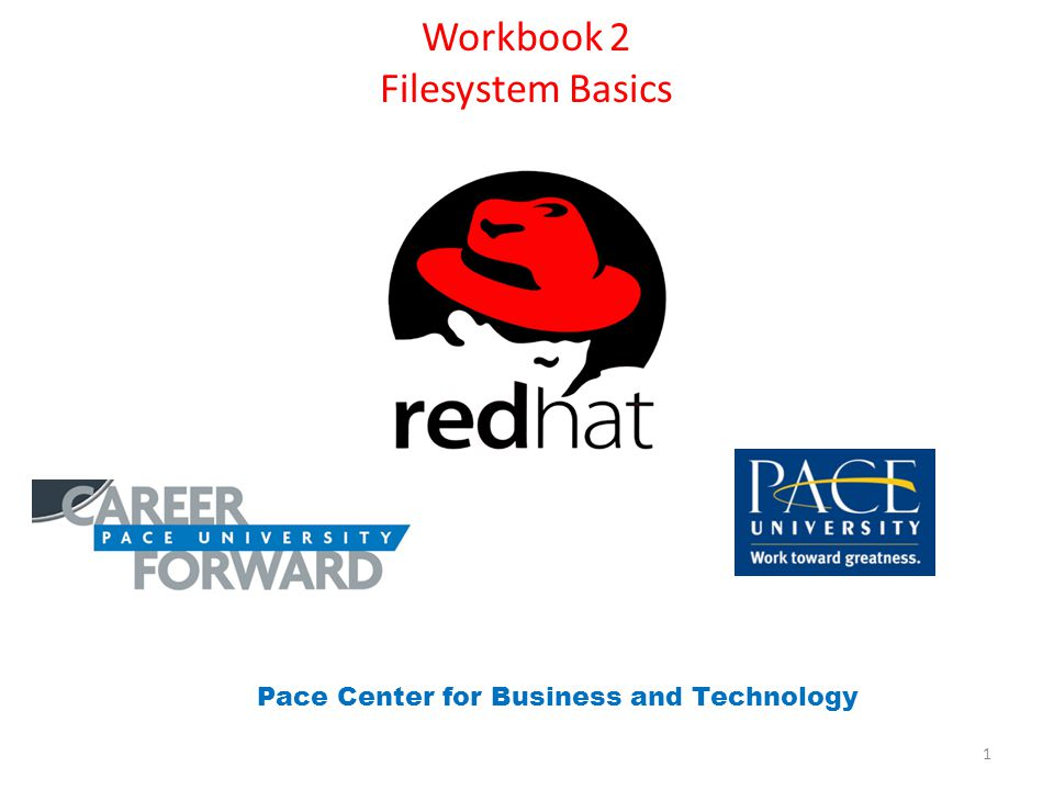 Workbook 2 Filesystem Basics Pace Center for Business and Technology 1
