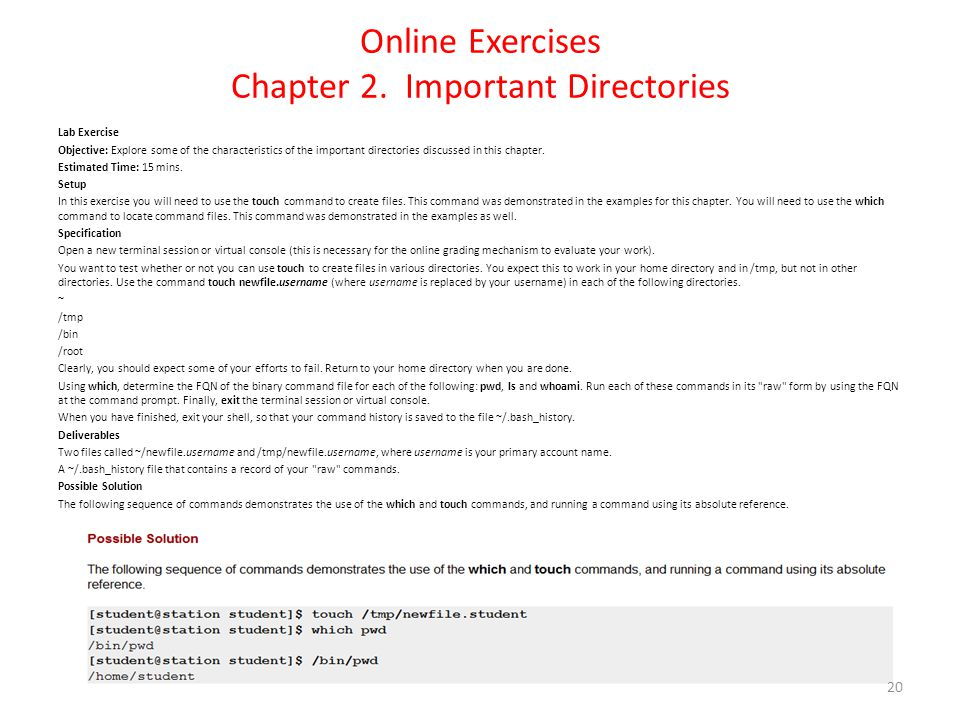 Online Exercises Chapter 2.