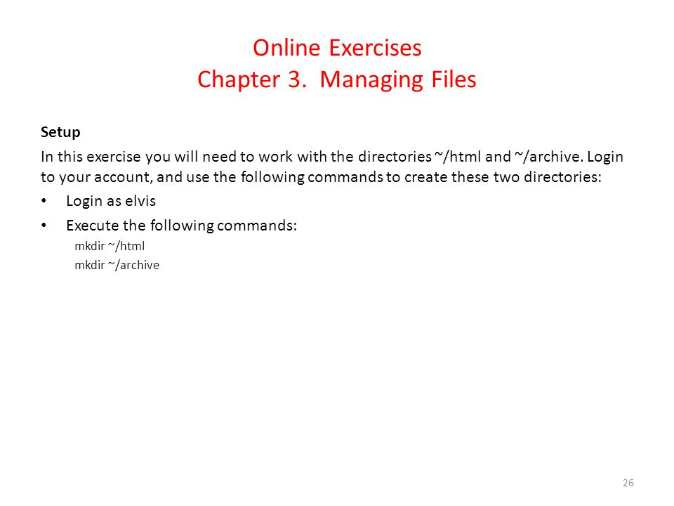 Online Exercises Chapter 3.