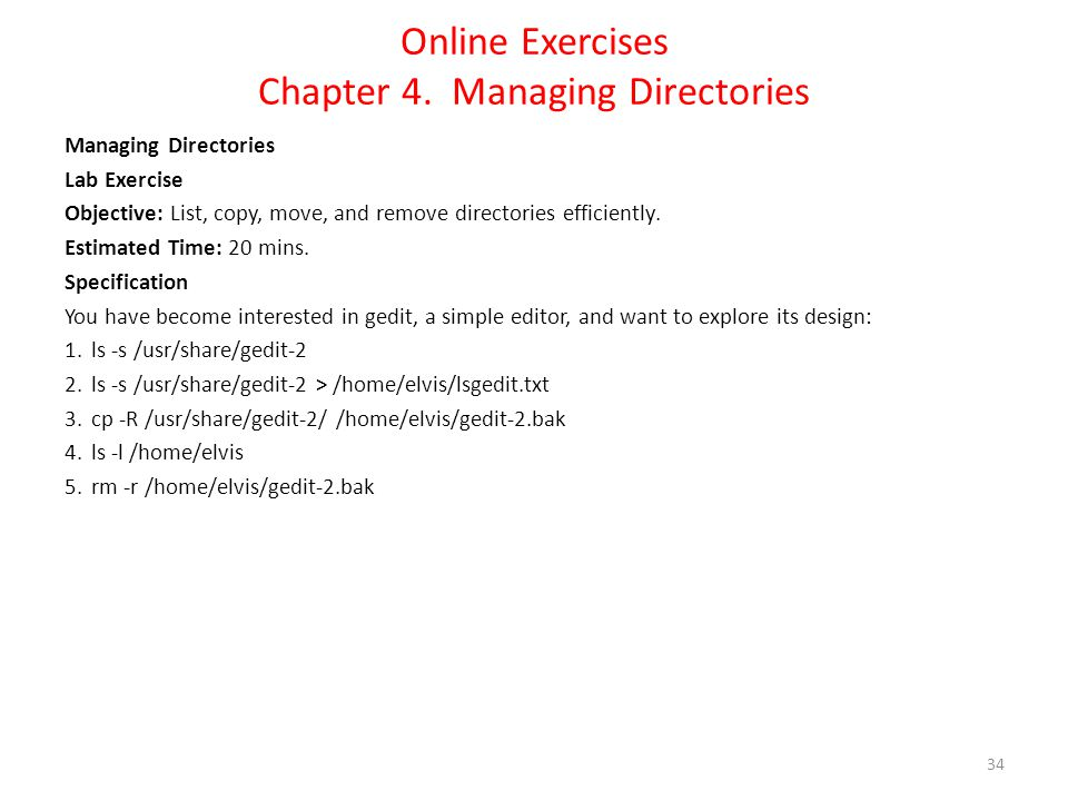 Online Exercises Chapter 4.