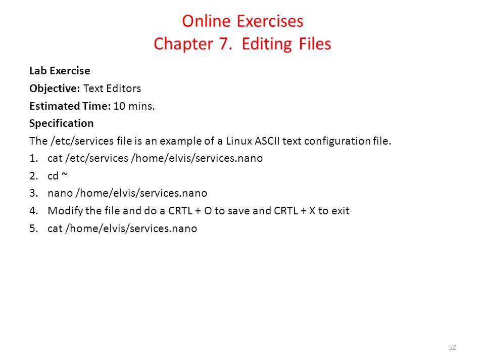 Online Exercises Chapter 7.
