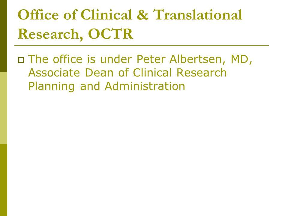 Office of Clinical and Translational Research (OCTR)  Judi Kulko, Executive Administrator kulko@uchc.edukulko@uchc.edu 860.679.1395  Judy Kulakofsky, Coordinator Budgets and Budget Workbooks kulakofsky@uchc.edukulakofsky@uchc.edu 860.679.7816  Judi Gilson, Coordinator Industry Contracts gilson@ADP.uchc.edu 860.679.2742 gilson@ADP.uchc.edu  Judie Fine, Coordinator Guide, Clinicaltrials.gov fine@NSO.uchc.edufine@NSO.uchc.edu 860.679.3366  Clint Propfe, Reimbursement Analyst propfe@uchc.edupropfe@uchc.edu 860.679.4369 http://octr.uchc.edu