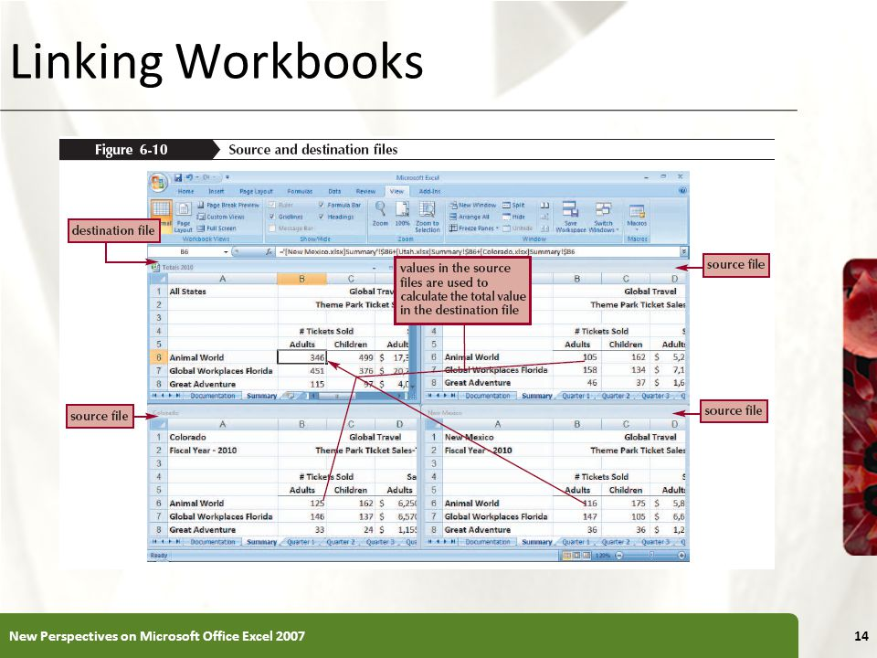 XP Linking Workbooks New Perspectives on Microsoft Office Excel 200714