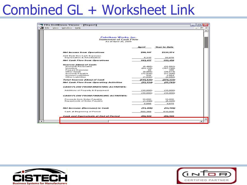 Combined GL + Worksheet Link