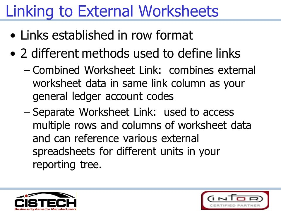 Separate Worksheet Link